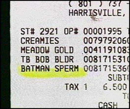 Batman sperm