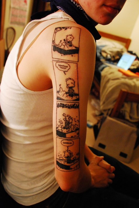 calvin and hobbes tattoo really funny pictures collection on. Black Bedroom Furniture Sets. Home Design Ideas