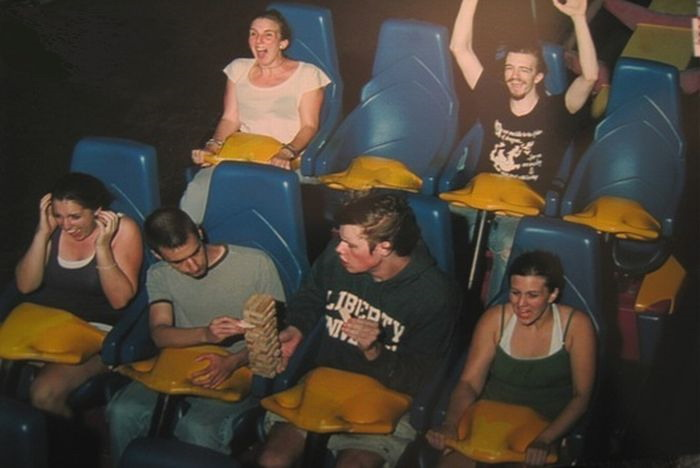 rollercoaster jenga really funny pictures collection on