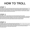 How to troll