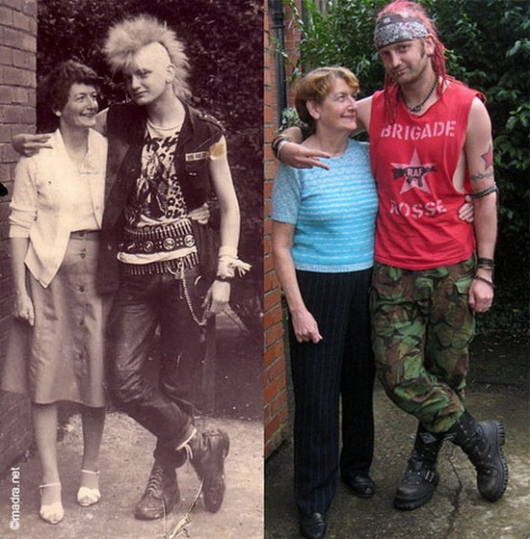 Then and now: punker and mother