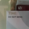 Time - do not bend