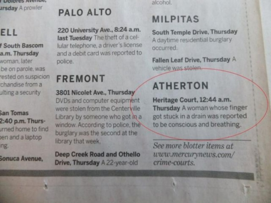 The strange things in the Atherton police blotter - Picture 10