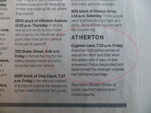 The strange things in the Atherton police blotter - Picture 12