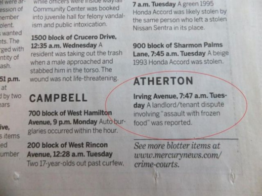 The strange things in the Atherton police blotter - Picture 15