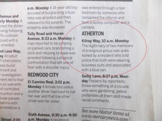 The strange things in the Atherton police blotter - Picture 2