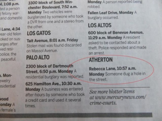 The strange things in the Atherton police blotter - Picture 9