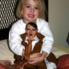 Girl with Hitler doll