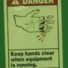 Keep hands clean when equipment is running