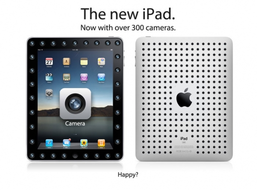 The new iPad with camera