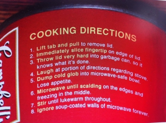 Campbell Soup cooking directions