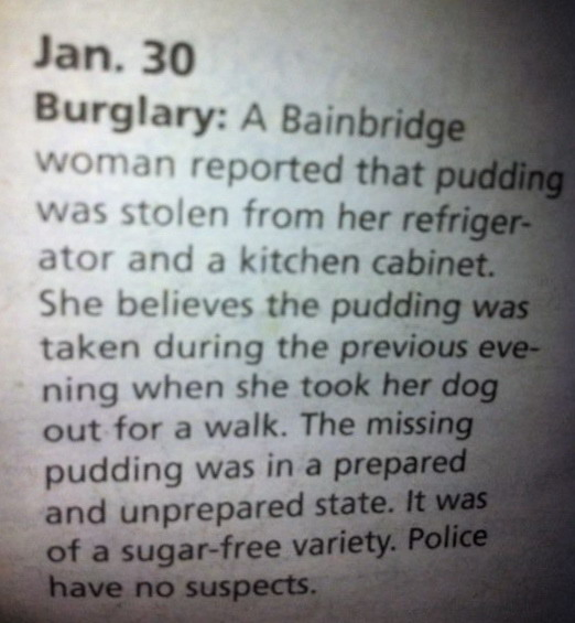 Pudding robber