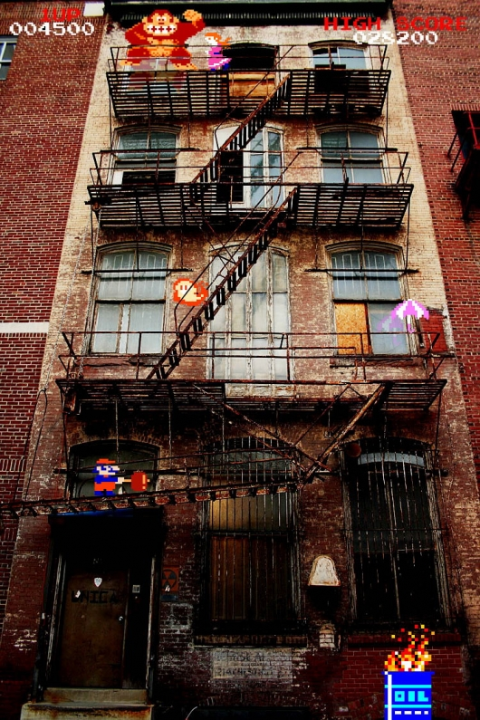 Donkey Kong Fire Escape Really Funny Pictures Collection