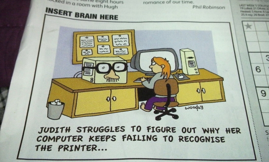 Recognizing the printer