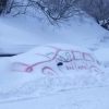 Snow graffiti