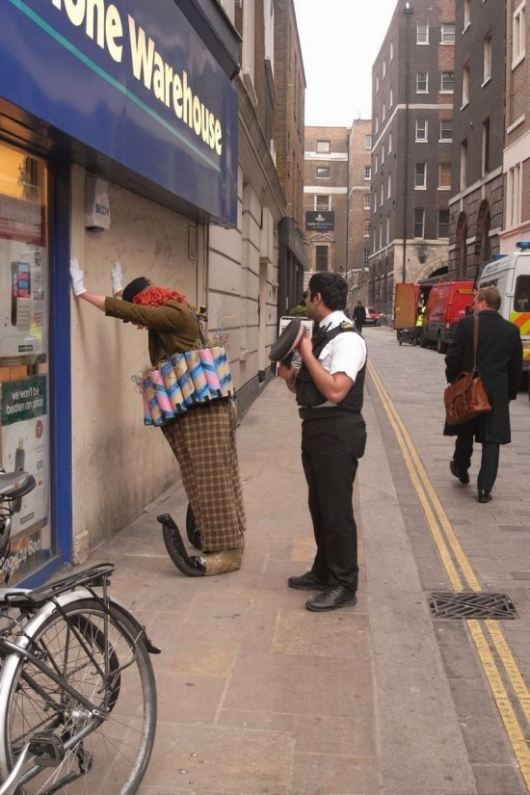Suicide bomber clown arrested
