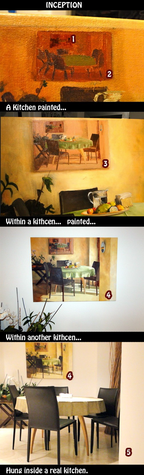 Inception kitchen painting