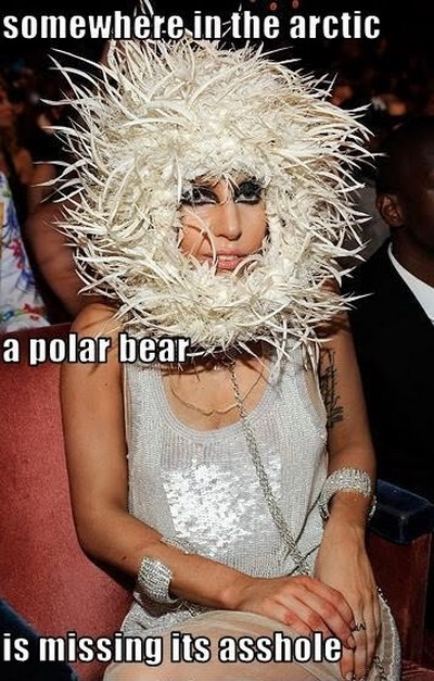 Lady Gaga's hair piece