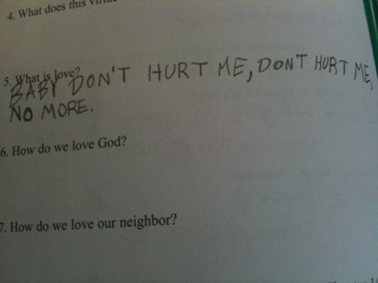 What is love test answer