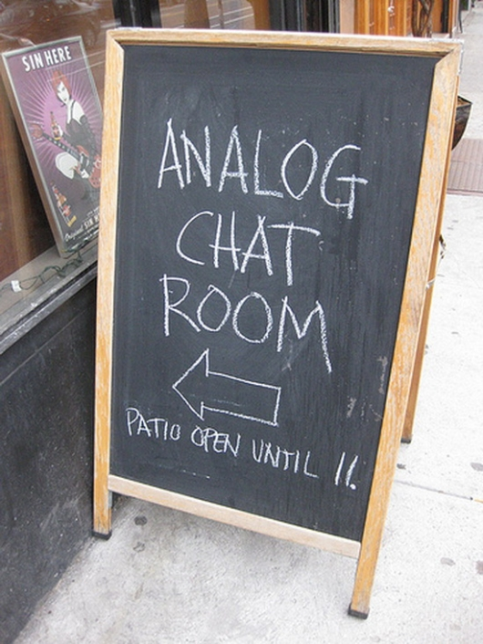 Analog chat room
