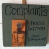 Press button for complaints