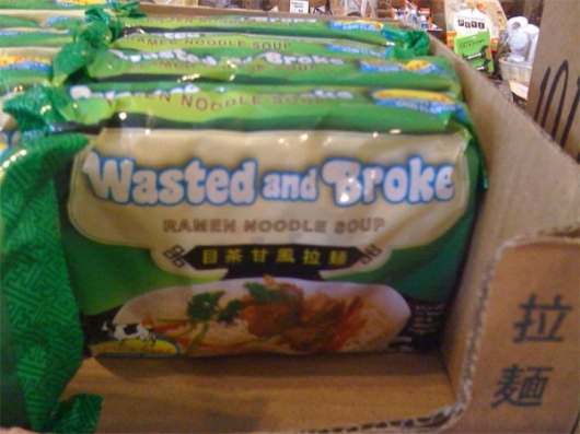 Wasted and broke noodle soup