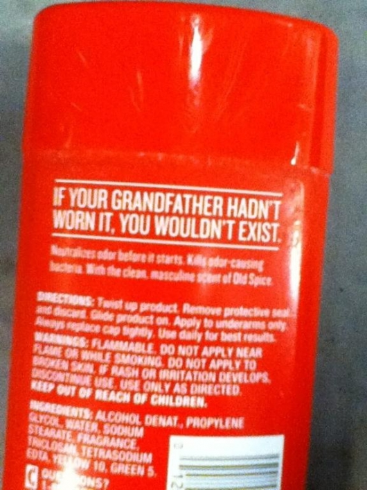 Old Spice message