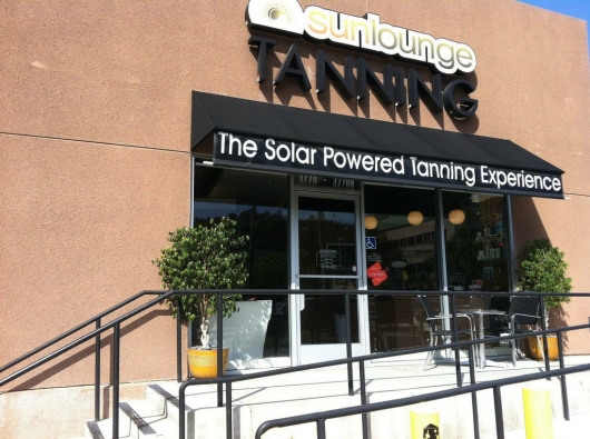 Solar powered tanning salon