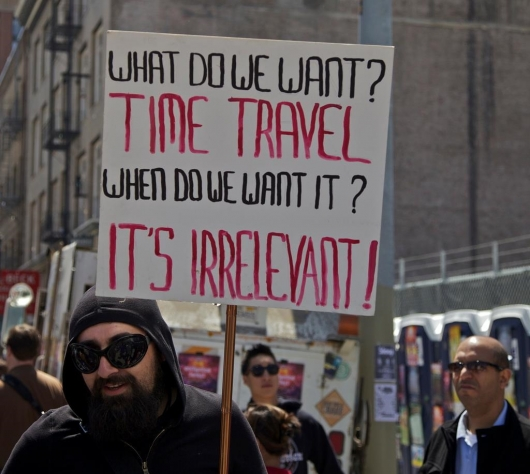 We want time travel