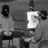 Drawing a man in ski mask