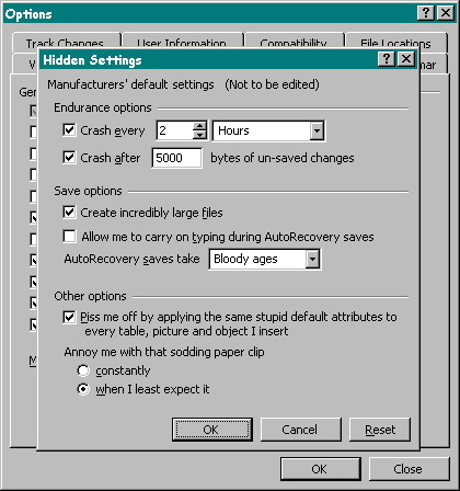Windows hidden settings