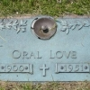 Oral Love's tombstone