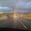 Driving into the rainbow
