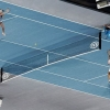 Tennis court optical illusion