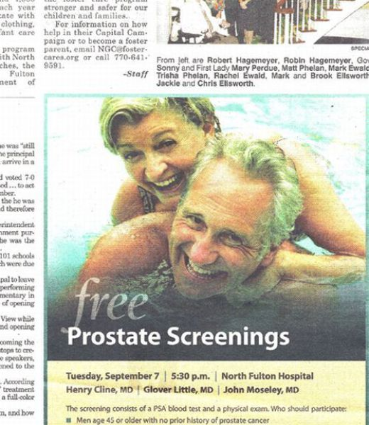 Free prostate screenings