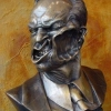 Agent Smith sculpture