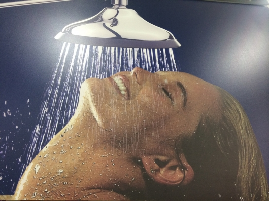 Shower for people with broken neck