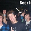 Beer drinking fail