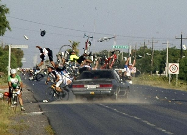 Bicycle race accident - Really funny pictures collection on picshag.com