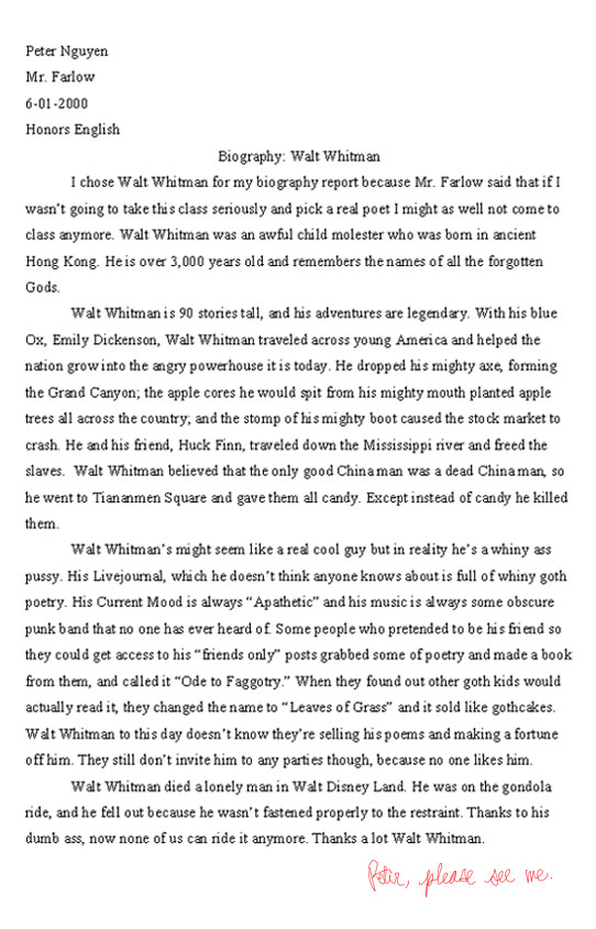 Walt Whitman Biography Report Really Funny Pictures