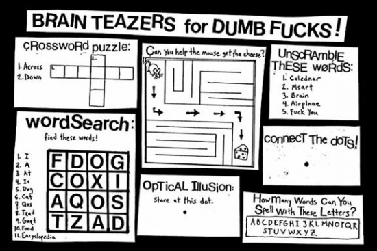 Brain teasers for dumb f**ks - Really funny pictures collection on ...