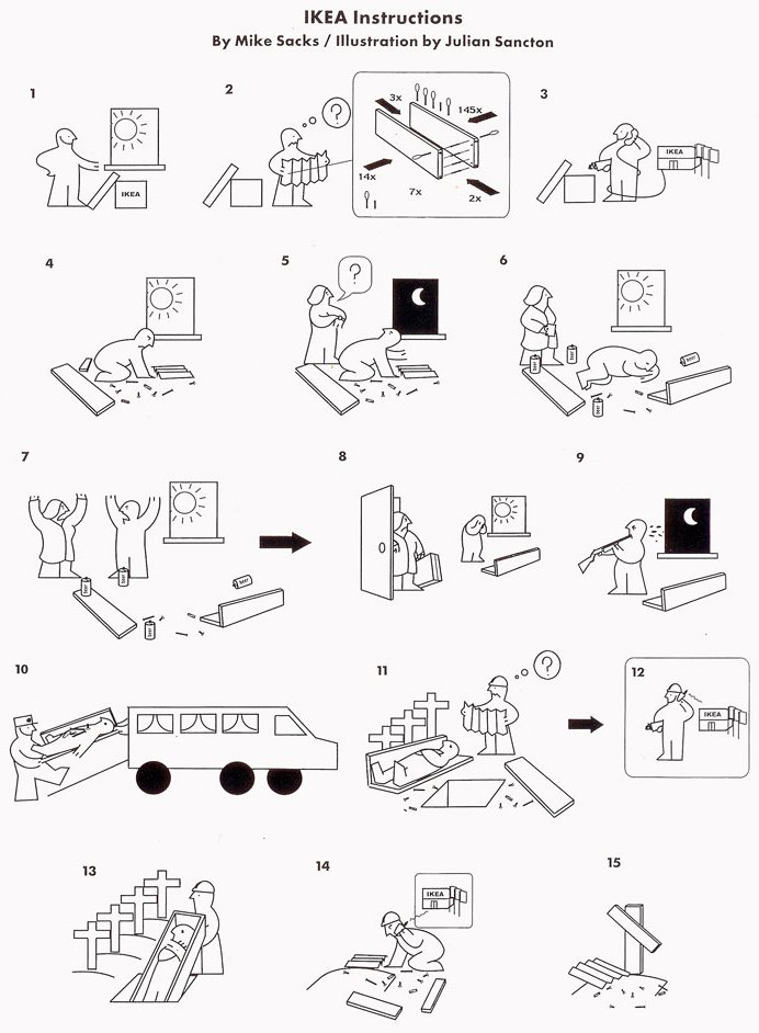 ikea instructions really funny pictures collection on. Black Bedroom Furniture Sets. Home Design Ideas