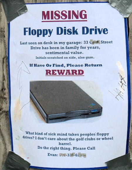 Missing floppy drive