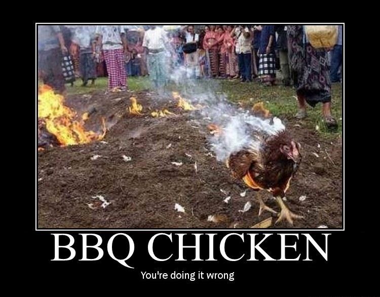 Chicken Inspirational Quotes: Motivational Poster: BBQ Chicken