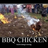 Motivational poster: BBQ chicken