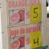 Orange juice vs Jugo de naranja