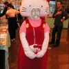 Sad hello kitty mascot