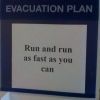 Simple evacuation plan