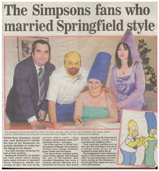 Simpsons fans marriage