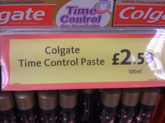 Time control tooth paste